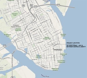 Map of Charleston Area & BI Office